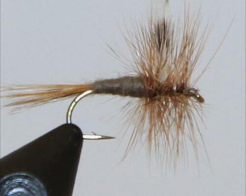 Probably the most iconic fly of all. The Adams represents the majority of early mayflies.