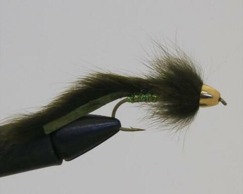 Slump Buster This small streamer will always get you out of a slump. Small and diminutive with a heavy tungsten cone this guy plummets to the bottom and scrubs along in their face until someone gets mad enough to eat it.